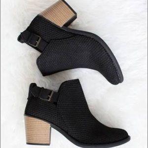 Black Perforated Booties